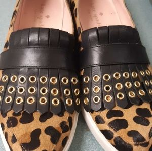 Kate spade funky fur and leather loafers
